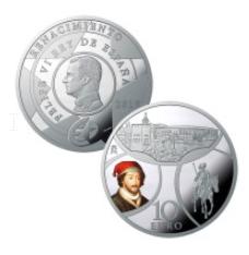 moneda de plata quijote alhambra
